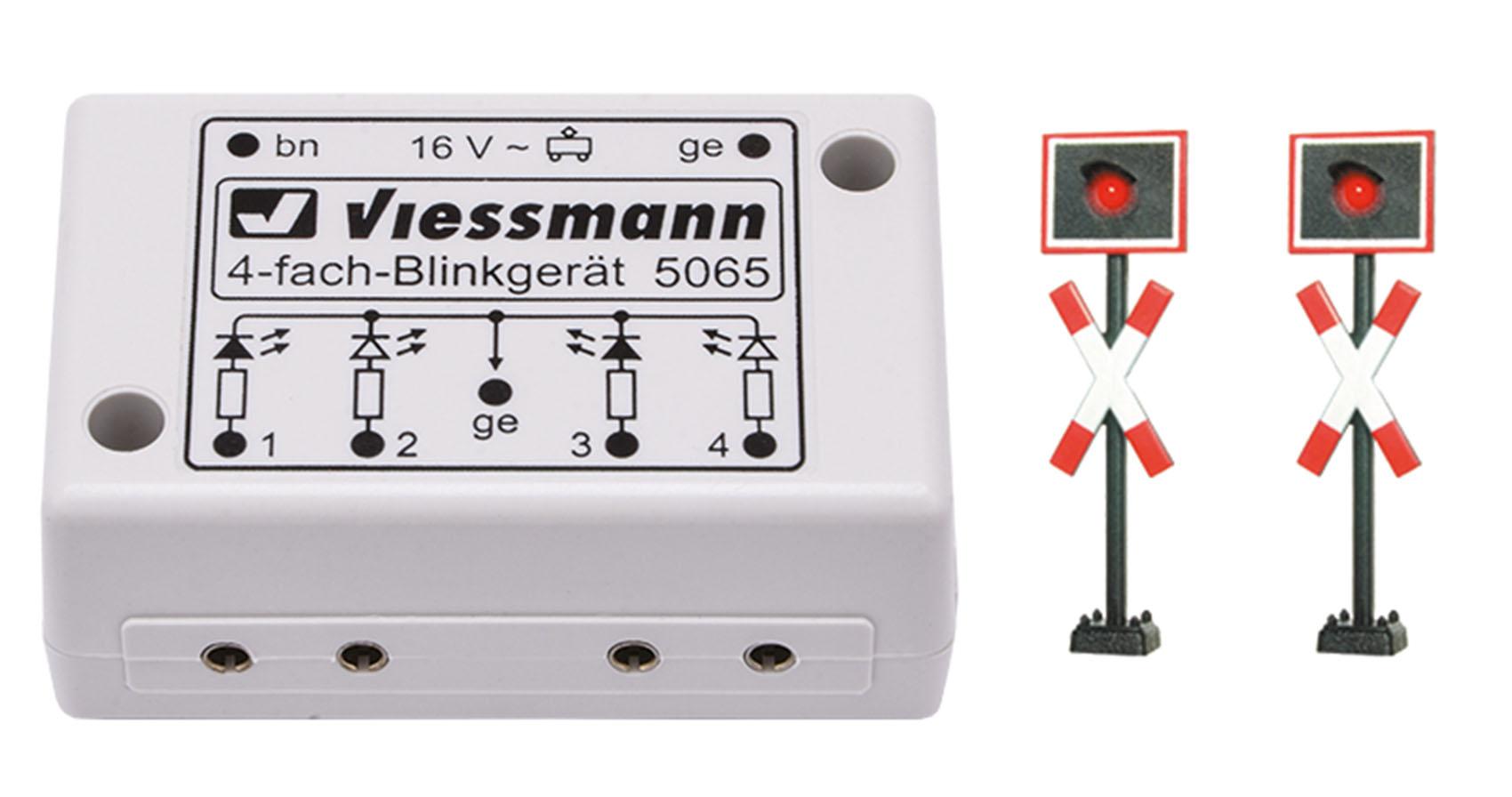 Viessmann 5801 N Andreaskreuze, 2 Stück mit Blinkelektronik