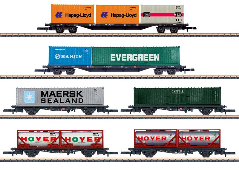 Märklin 82665 Containertragwagen-Set Containertragwagen-Set