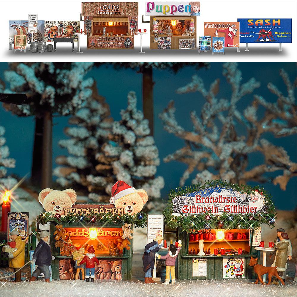 Busch 1060 Zwei Weihnachtsbuden H0