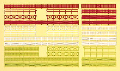 Preiser 79551 Zäune, 30 Stück. Bausatz