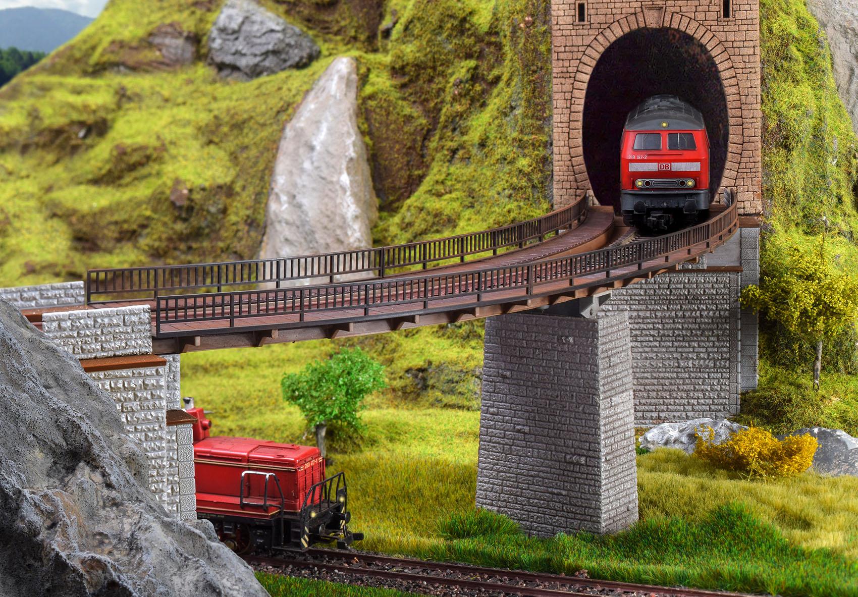 Vollmer 42547 H0 Trogbrücke, gebogen