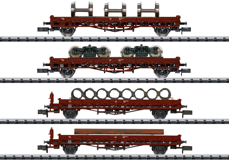 Trix 18707 Niederbordwagen-Set Niederbordwagen-Set