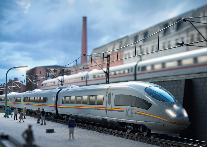 Märklin 37784 Triebwagenzug ICE 3, Baureihe 403 railbow ICE 3 Railbow, 5-tlg, DB AG, Triebwagenzug ICE 3, Baureihe 403