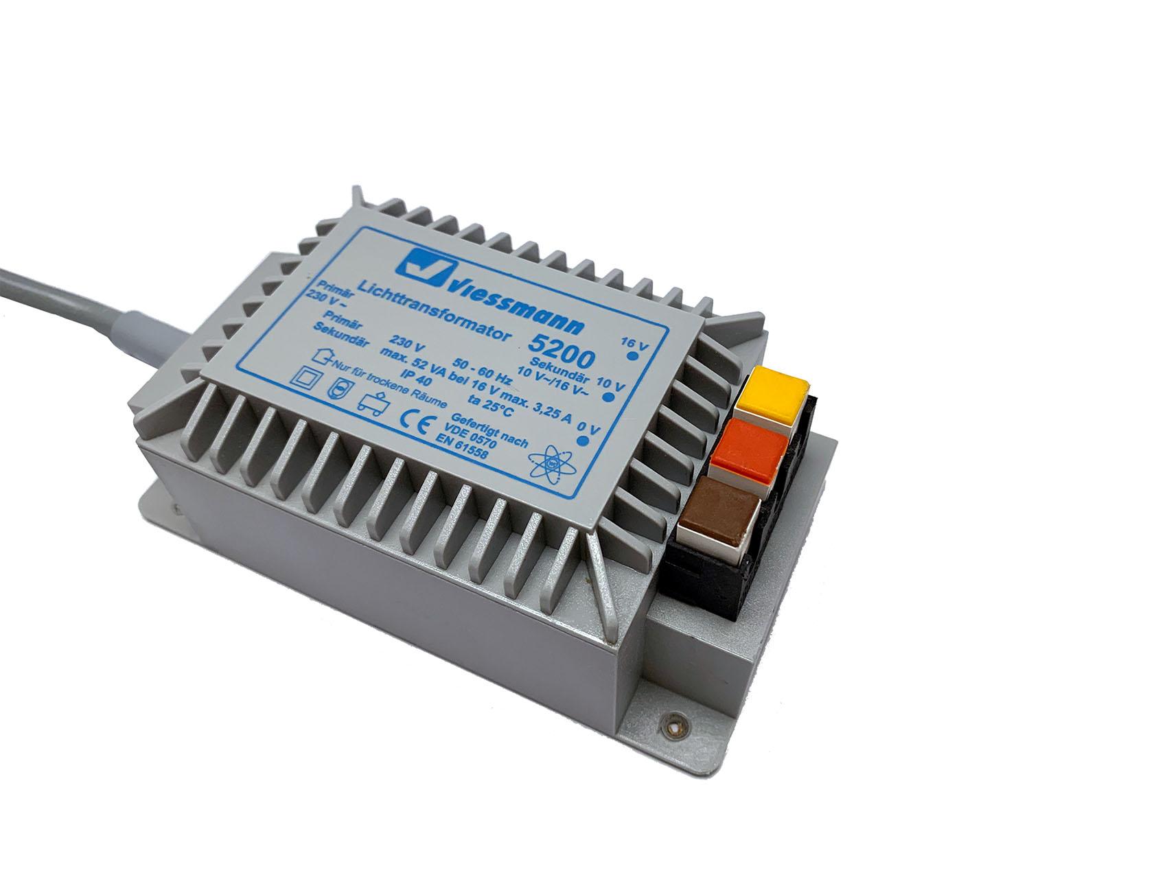 Viessmann 5200 Lichttransformator 16 V, 52 VA