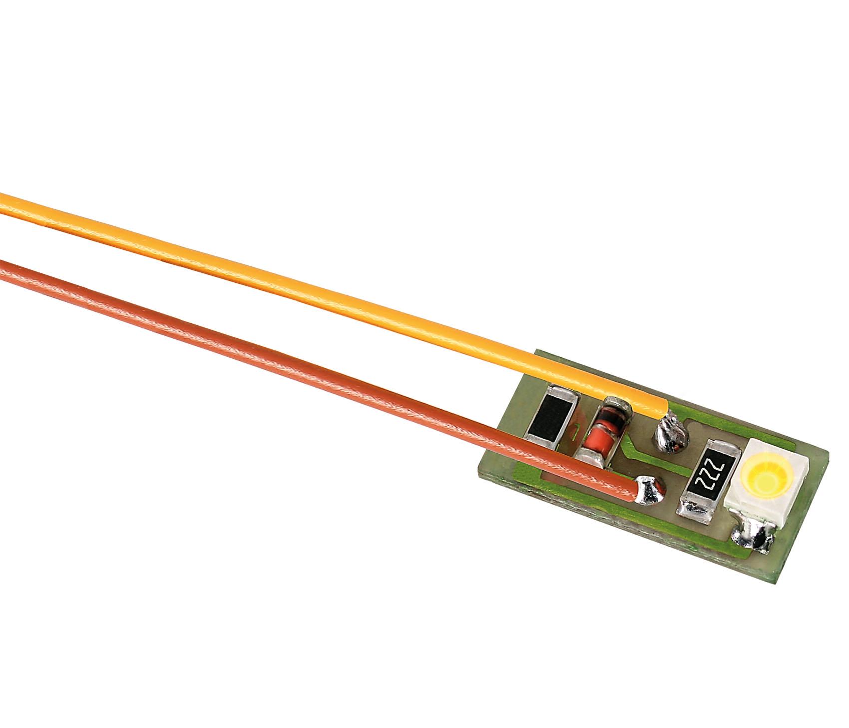 Viessmann 6007 Hausbeleuchtung mit 1 LED gelb, 10 Stück