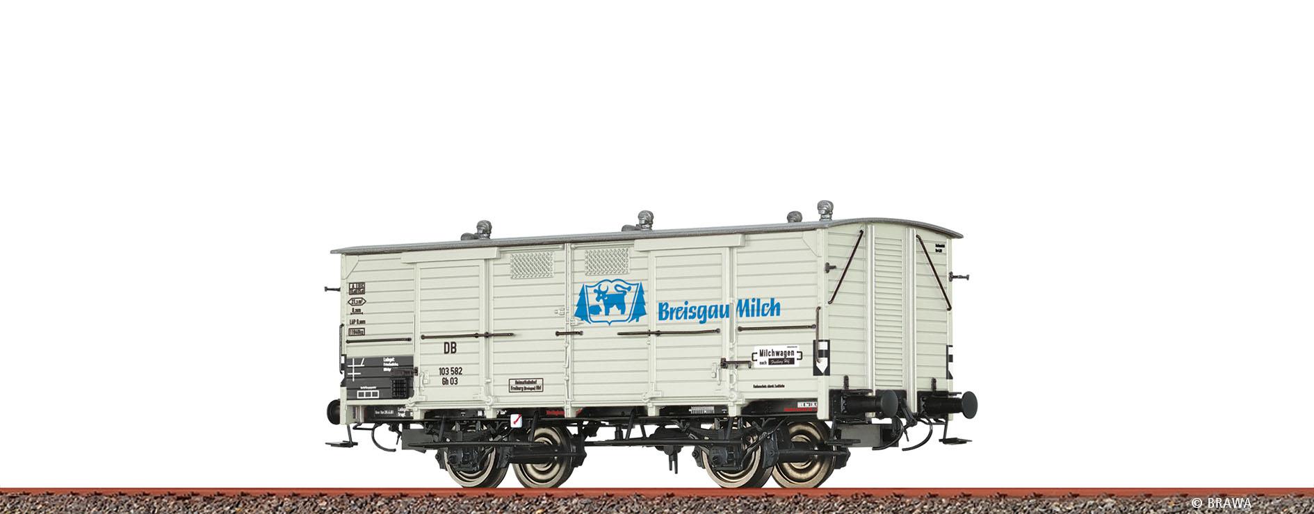 Brawa 48669 GÜW III Breisgau H0 Güterwagen Gh 03 DB, III, Breisgau Mil