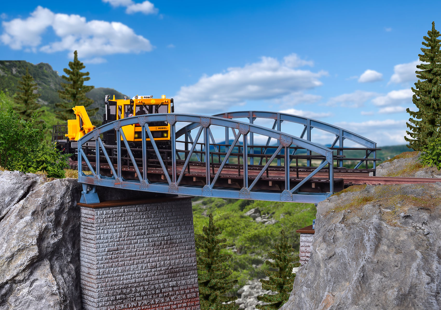 Vollmer 42540 H0 Stahlbogenbrücke, gebogen