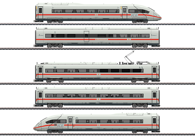 Märklin 39714 Triebwagenzug ICE 4 Baureihe 412/812