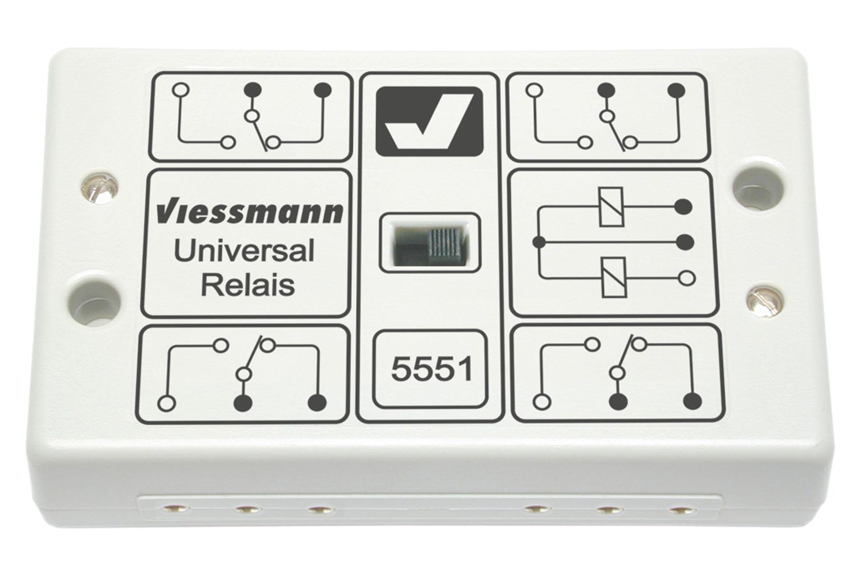 Viessmann 5551 Universal-Relais 1 x 4UM