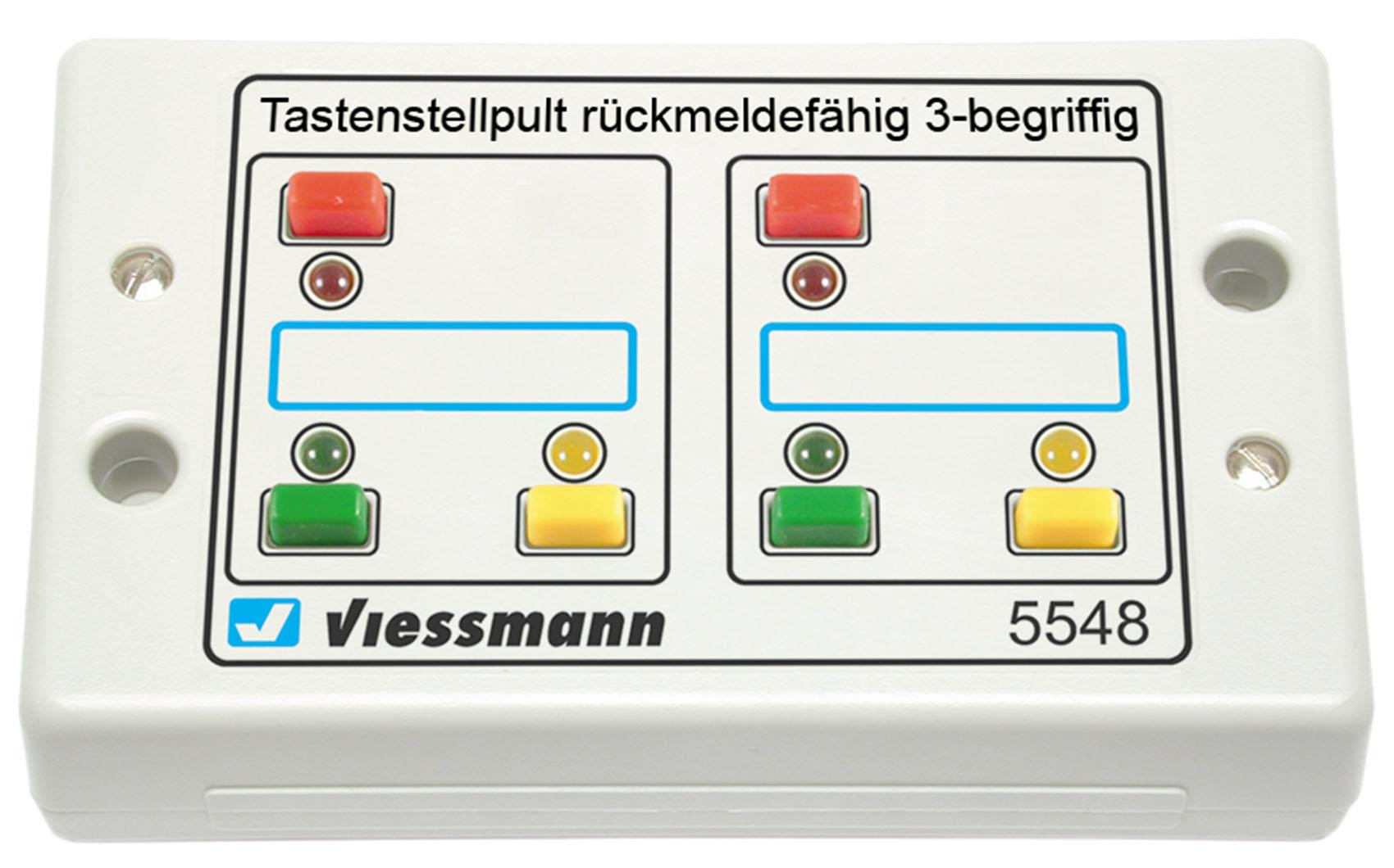 Viessmann 5548 Tasten-Stellpult, rückmeldefähig, 3-begriffig
