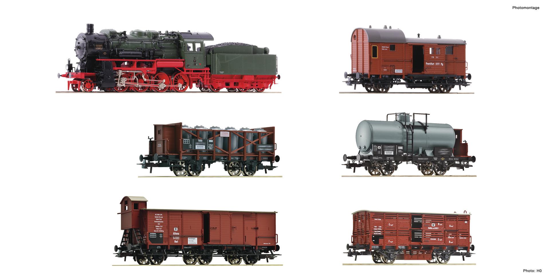 """Fleischmann 781290 6-tlg. Set: """"Preußischer Güterzug"""""""