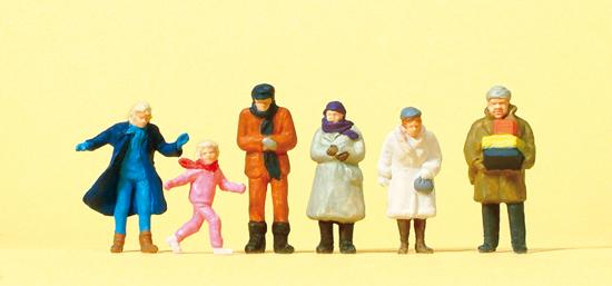 Preiser 14037 Passanten, winterliche Kleidu