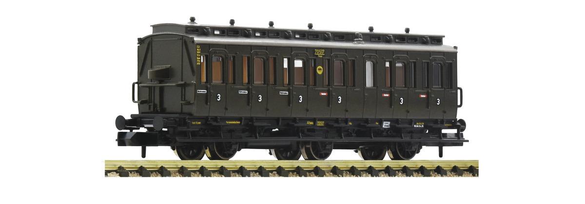 Fleischmann 807006 - 3-achsiger Abteilwagen 3. Klasse, DRG