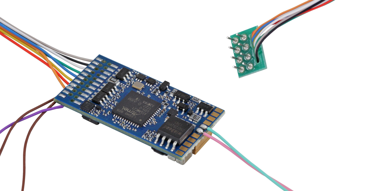 "ESU-Elektronik 58410 LokSound 5 DCC/MM/SX/M4 ""Leerdecoder"", 8-pin NEM652, Retail, mit Lautsprecher 1"