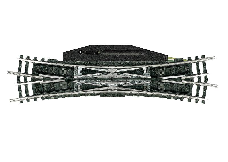 Trix 14960 Elektromagnetische Doppel-Kreuzungsweiche - 15°