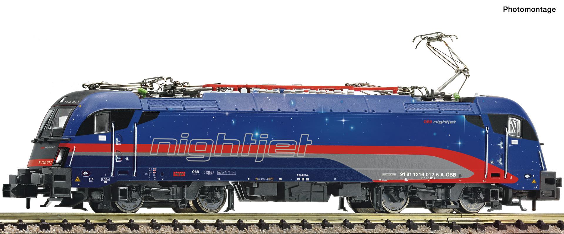 "Fleischmann 781804 Elektrolokomotive 1216 012-5 ""Nightjet"", ÖBB"