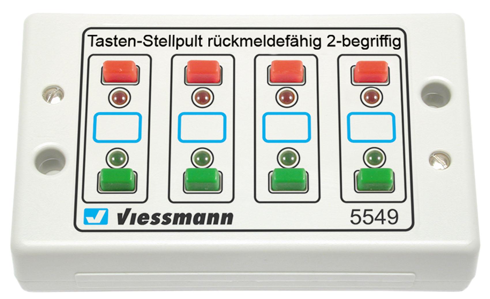 Viessmann 5549 Universal-Tasten-Stellpult, rückmeldefähig,2-begriffig
