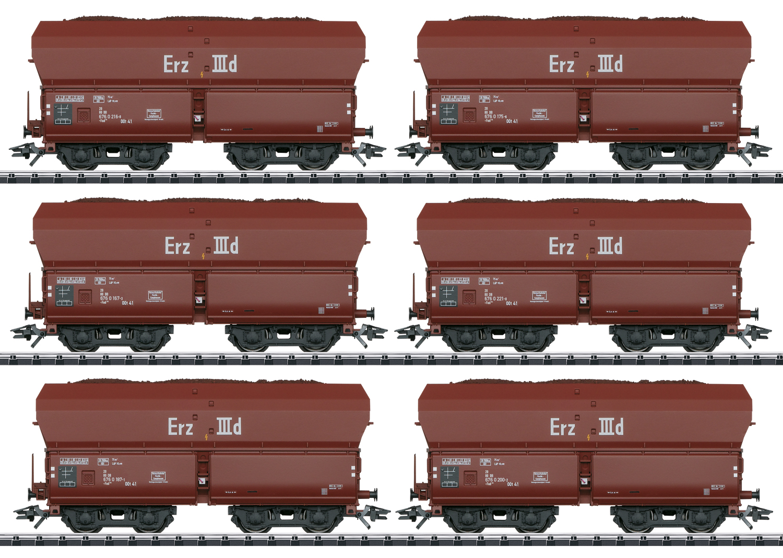 Trix 24150 Selbstentladewagen-Set Erz IIId Selbstentladewagen-Set Erz IIId