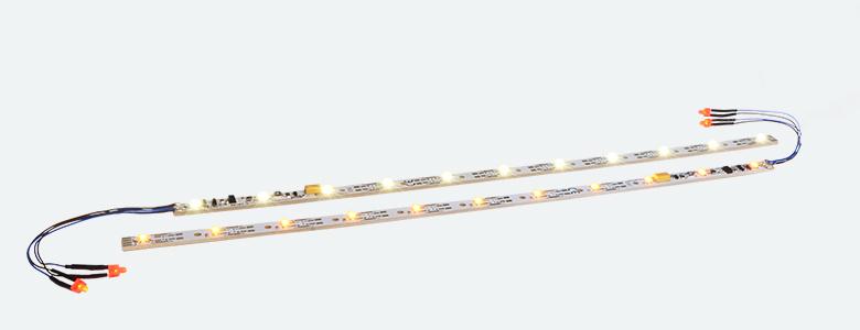 ESU-Elektronik 50708 Innenbeleuchtungs-Set mit Decoder + Schlusslicht, 255mm, teilbar, PowerPack Opt