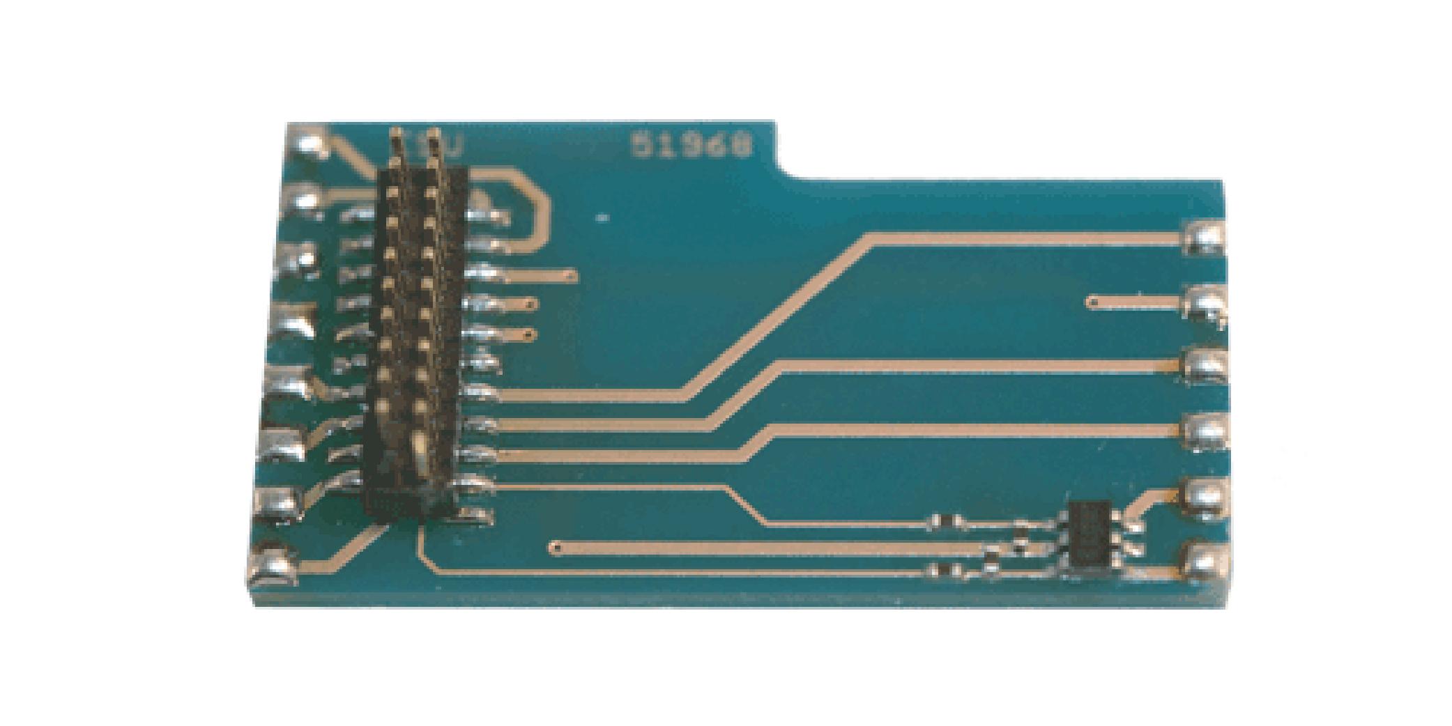 ESU-Elektronik 51968 Adapterlokplatine L-Form wie 6090x, mit AUX3 bis AUX6, für LokSound V3.5/V4.0,
