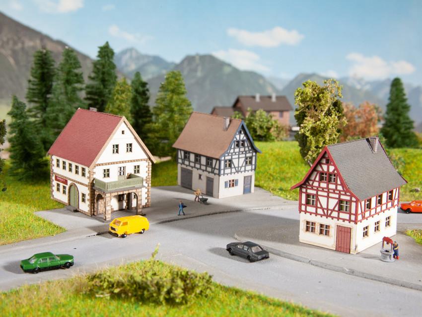 Noch 44310 Dorf-Set, 3-teilig
