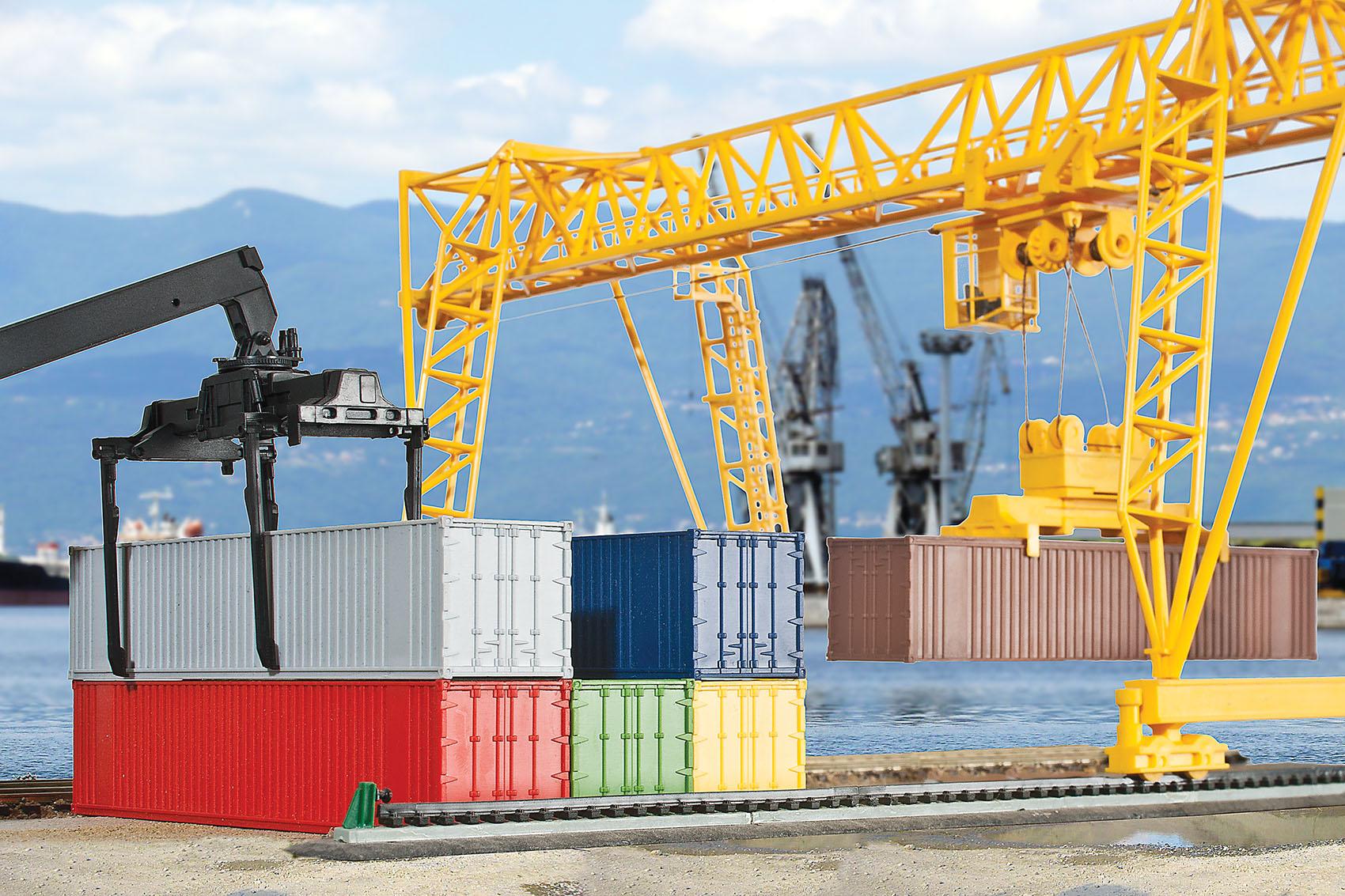 Kibri 10922 H0 40-Fuß-Container, 6 Stück