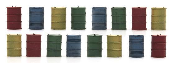 Ölfässer 1:160  Fertigmodell aus Resin, lackiert