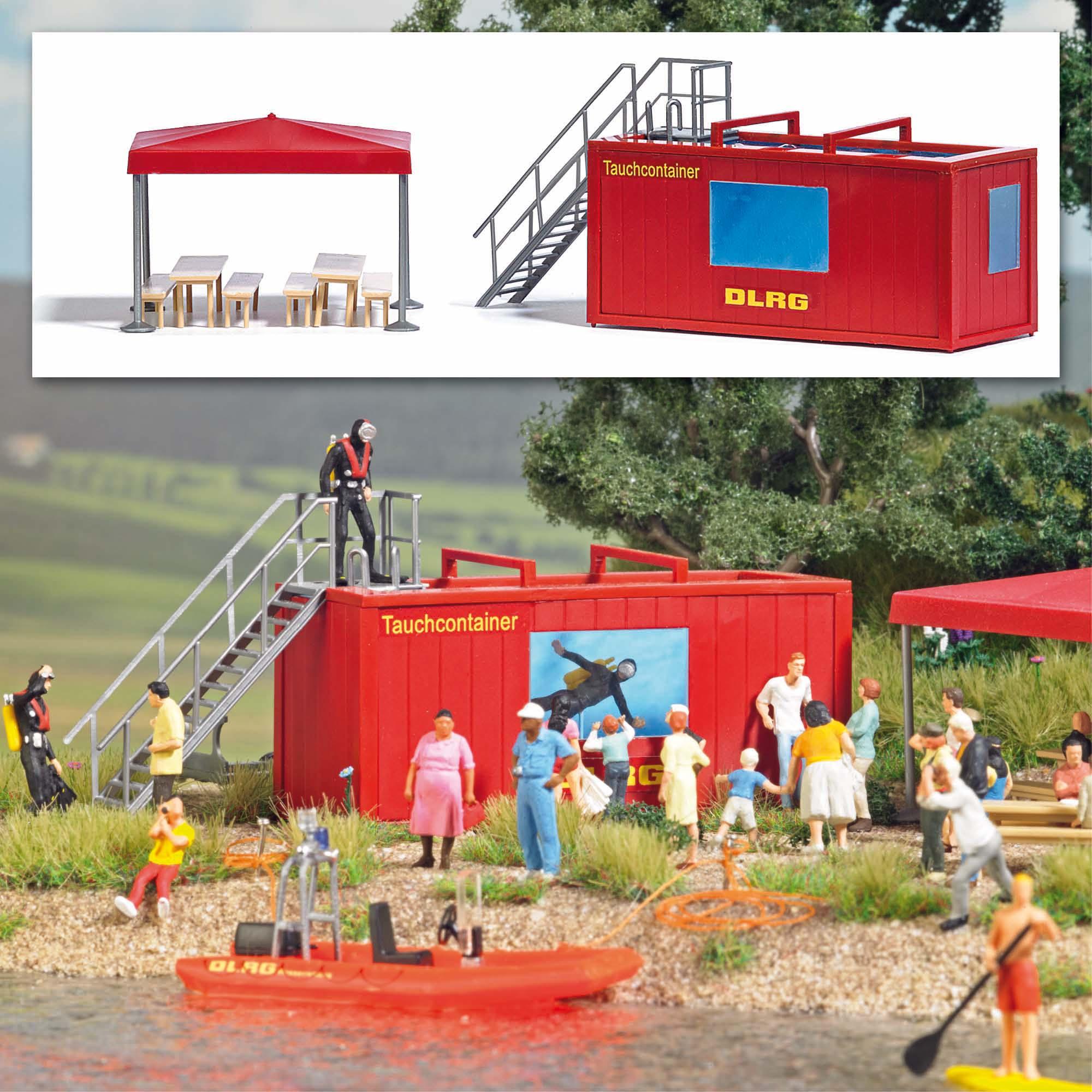Busch 1618 DLRG Tauchcontainer H0