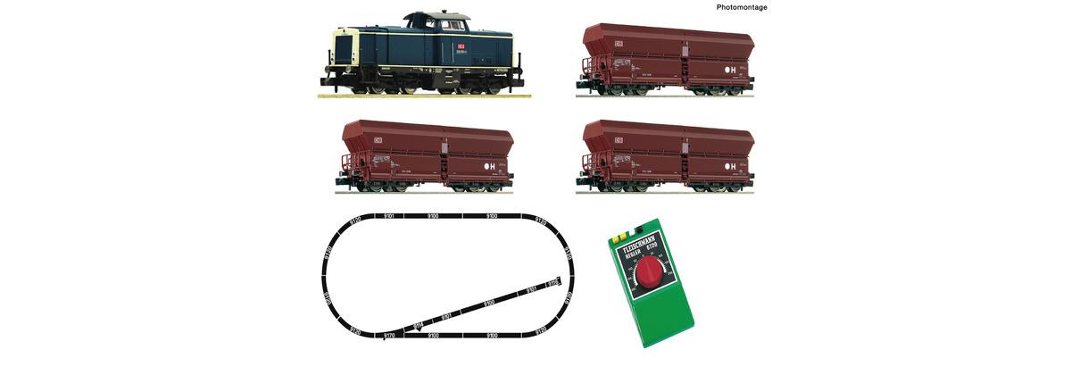 Fleischmann 931705 Analog Start Set: Diesellokomotive BR 212 mit Güterzug