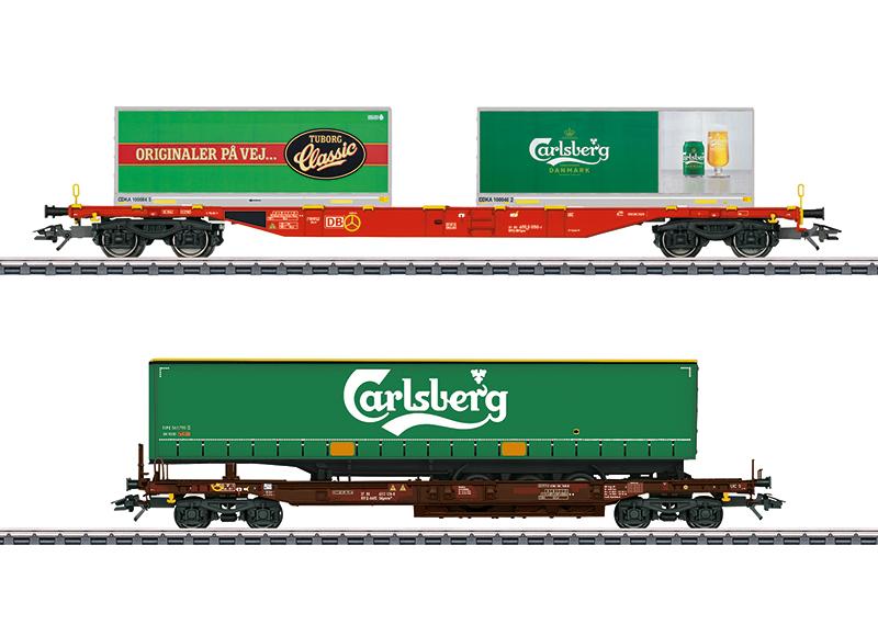 Märklin 47109 KLV-Güterwagenset Carlsberg und Tuborg