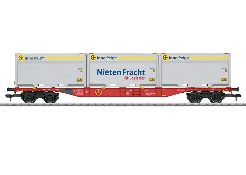 Märklin 58641 Container-Tragwagen Sgns 691, mit WoodTainer XXL Containern Container-Tragwagen Sgns 691, mit WoodTainer XXL Containern