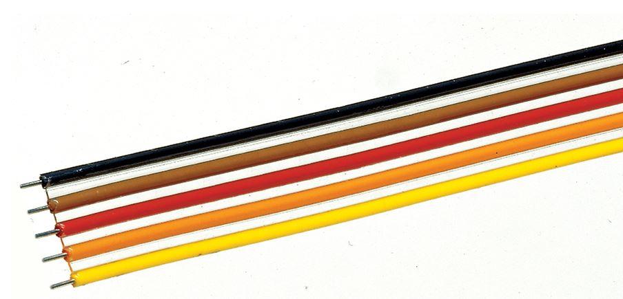 Roco 10625 - 5-poliges Kabel 5-fach Flachbandkabel, 10 m